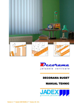 DECORAMA buget  - manual tehnic